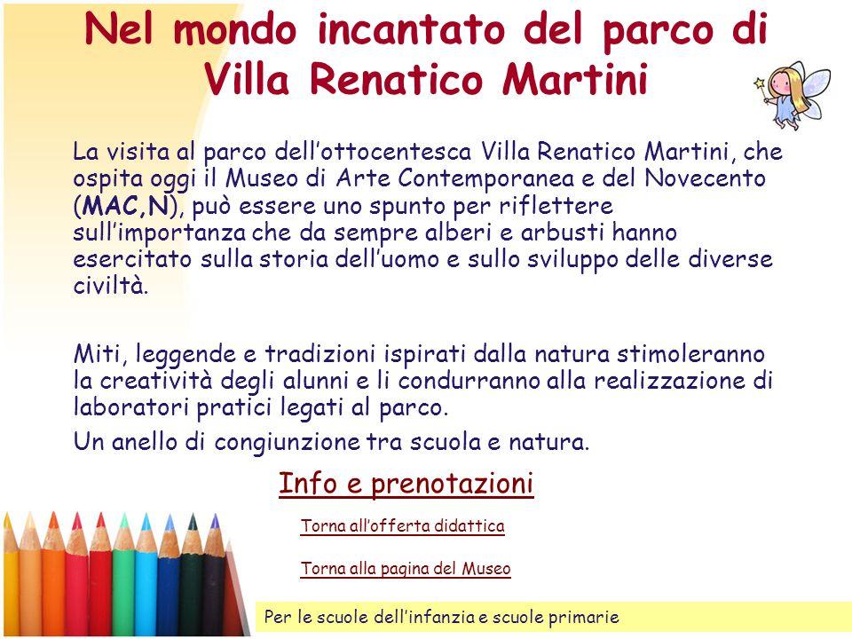 Nel mondo incantato del parco di Villa Renatico Martini