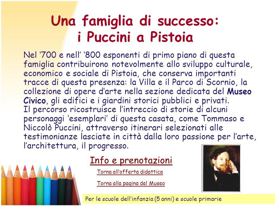 Una famiglia di successo: i Puccini a Pistoia