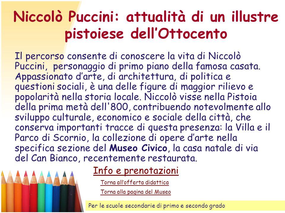 Niccolò Puccini: attualità di un illustre pistoiese dell'Ottocento