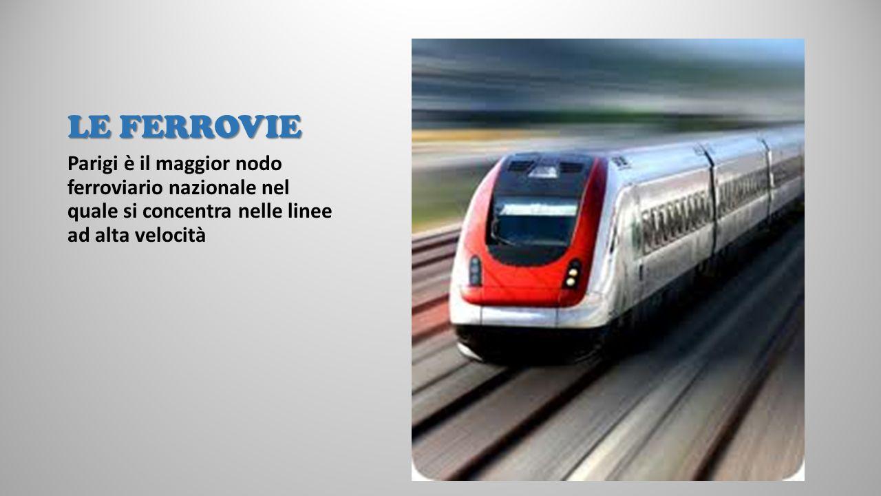 LE FERROVIE Parigi è il maggior nodo ferroviario nazionale nel quale si concentra nelle linee ad alta velocità.