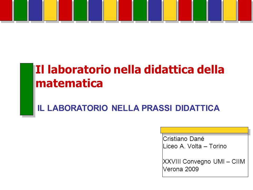 Il laboratorio nella didattica della matematica