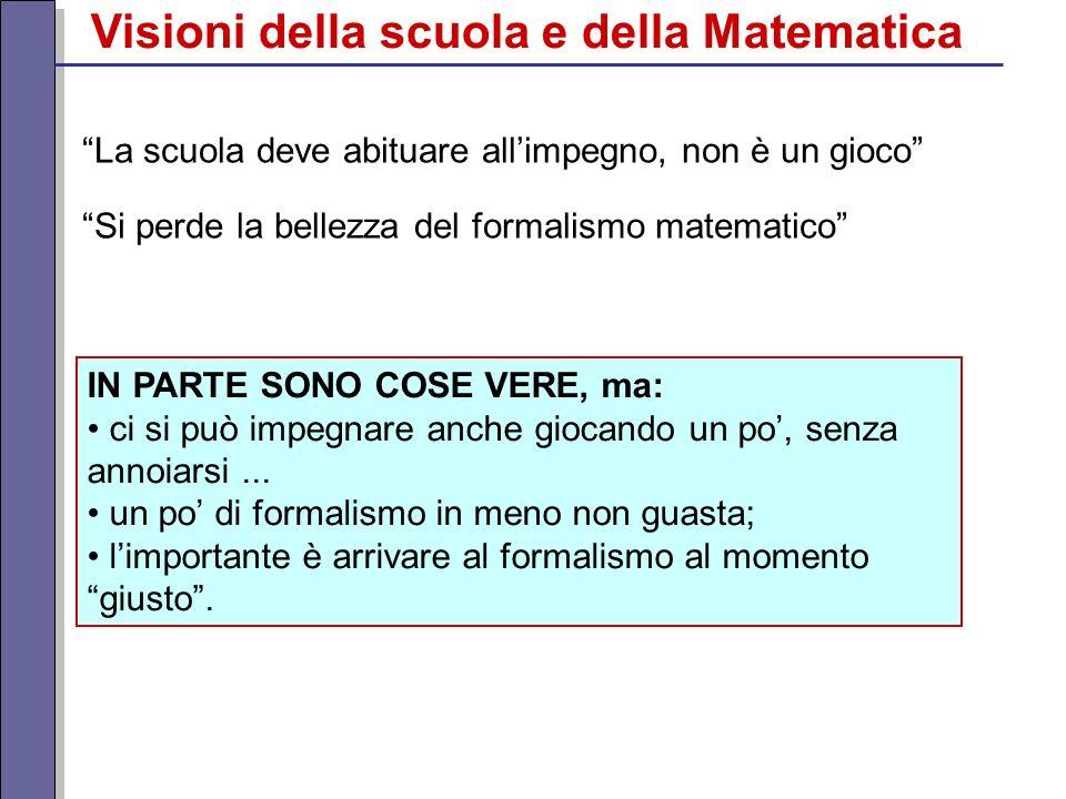 Visioni della scuola e della Matematica