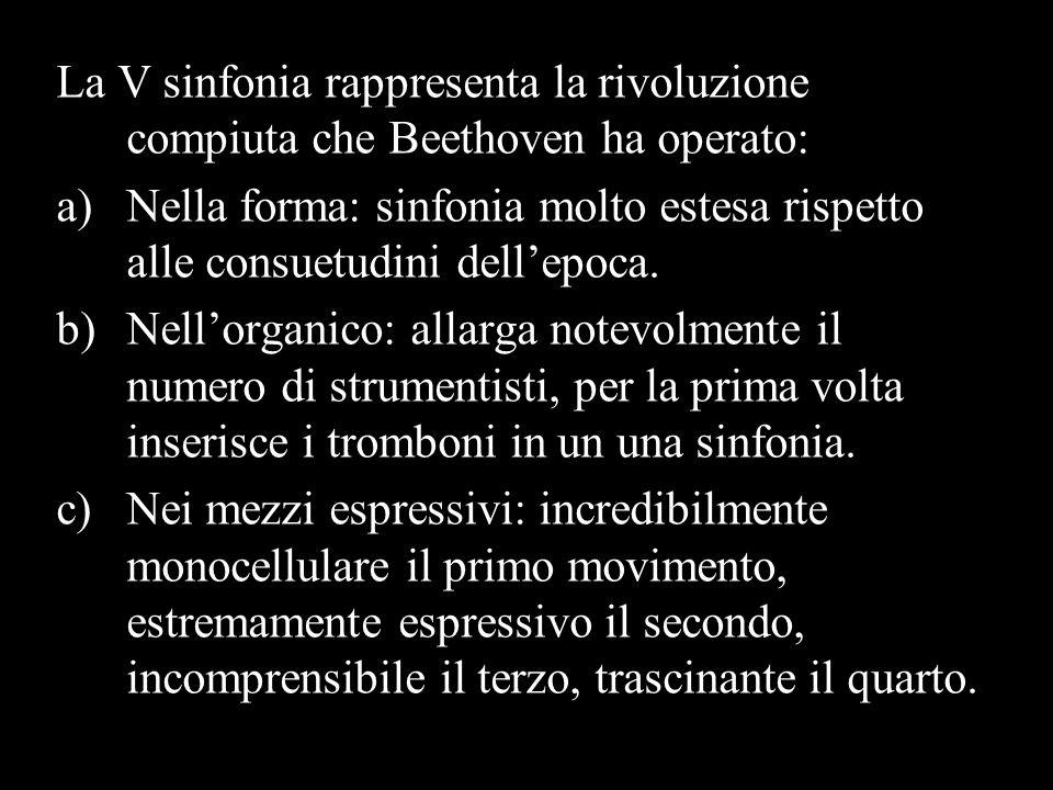 La V sinfonia rappresenta la rivoluzione compiuta che Beethoven ha operato: