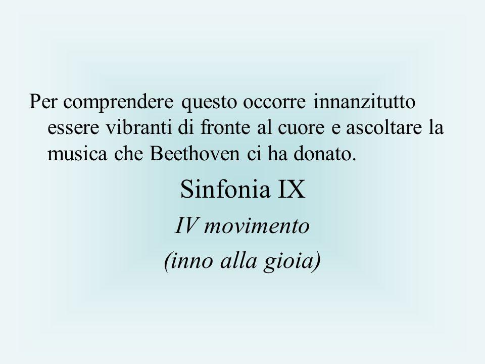 Sinfonia IX IV movimento (inno alla gioia)