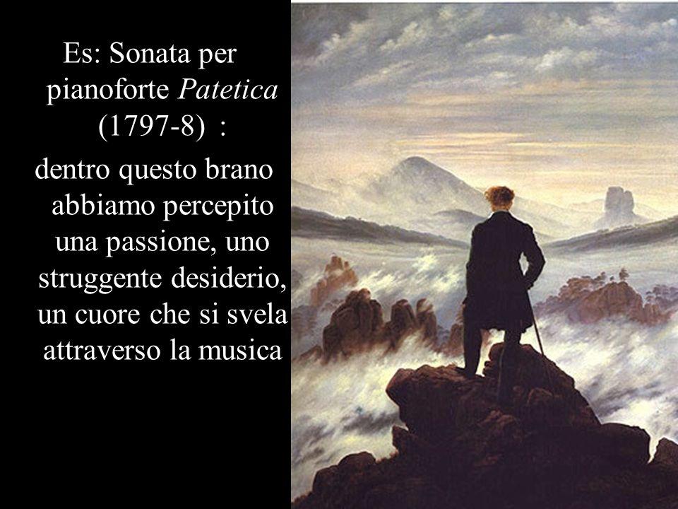 Es: Sonata per pianoforte Patetica (1797-8) :