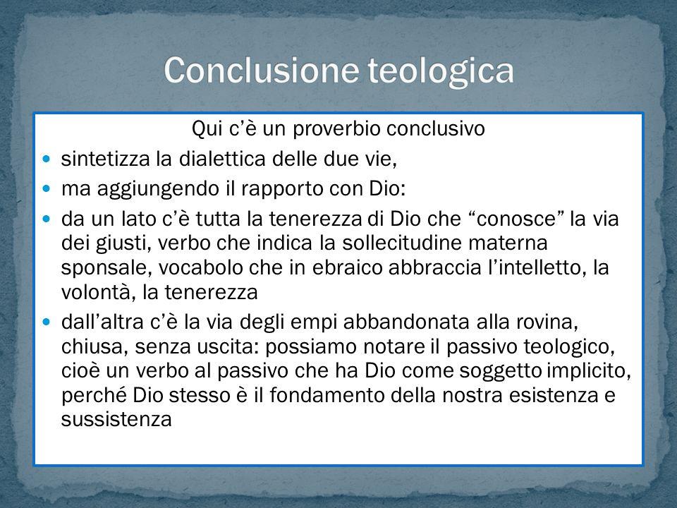 Conclusione teologica