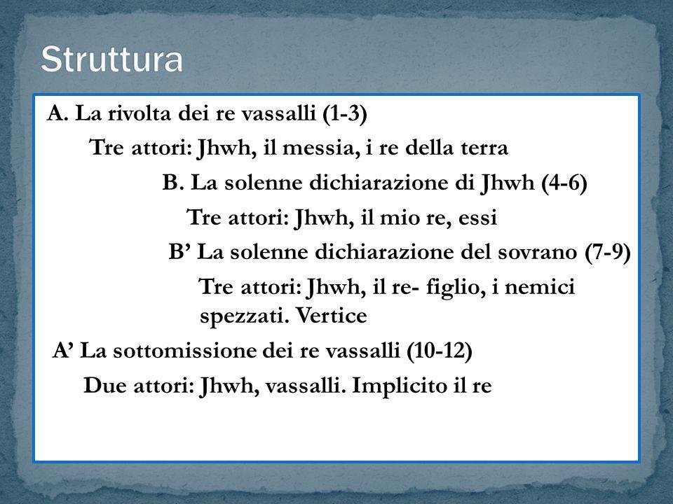Struttura A. La rivolta dei re vassalli (1-3)