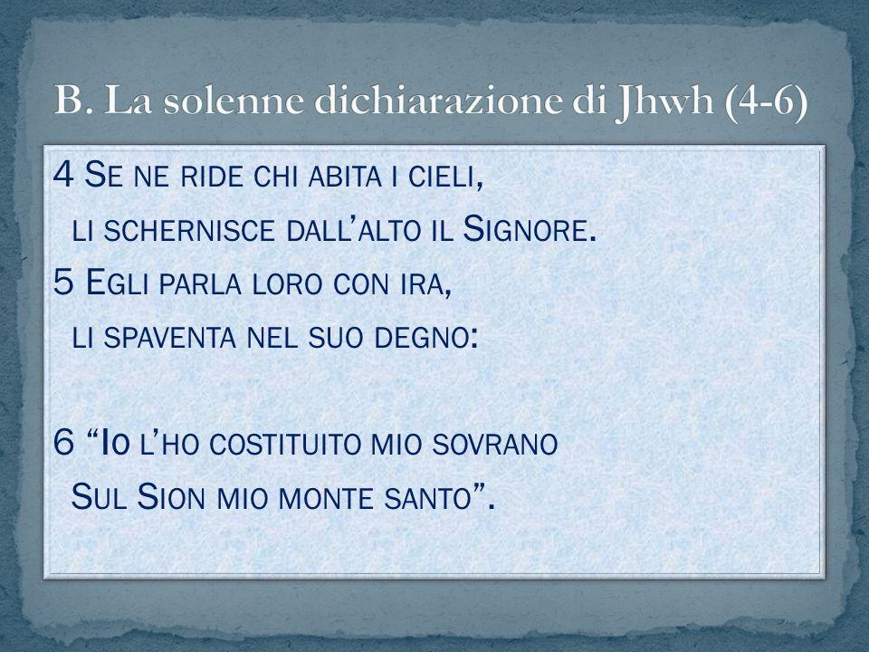 B. La solenne dichiarazione di Jhwh (4-6)