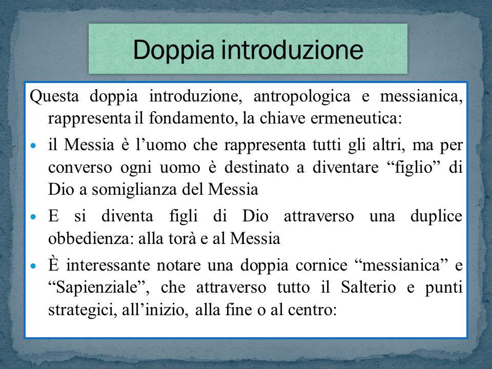 Doppia introduzione Questa doppia introduzione, antropologica e messianica, rappresenta il fondamento, la chiave ermeneutica: