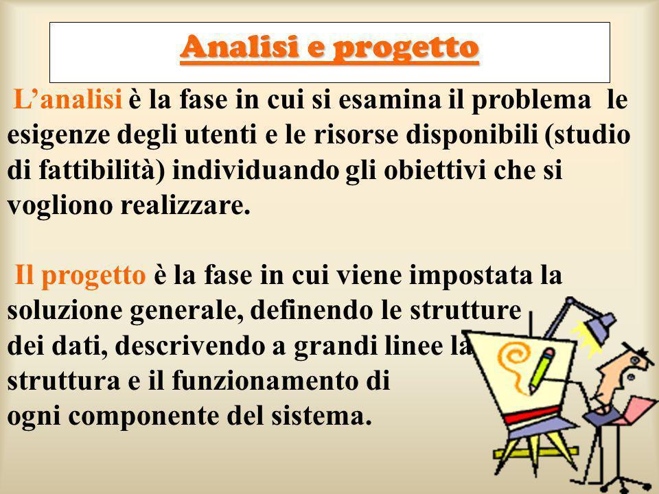 Analisi e progetto