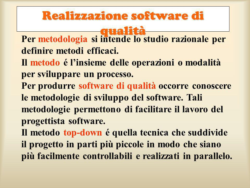 Realizzazione software di qualità