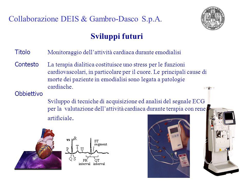 Collaborazione DEIS & Gambro-Dasco S.p.A.