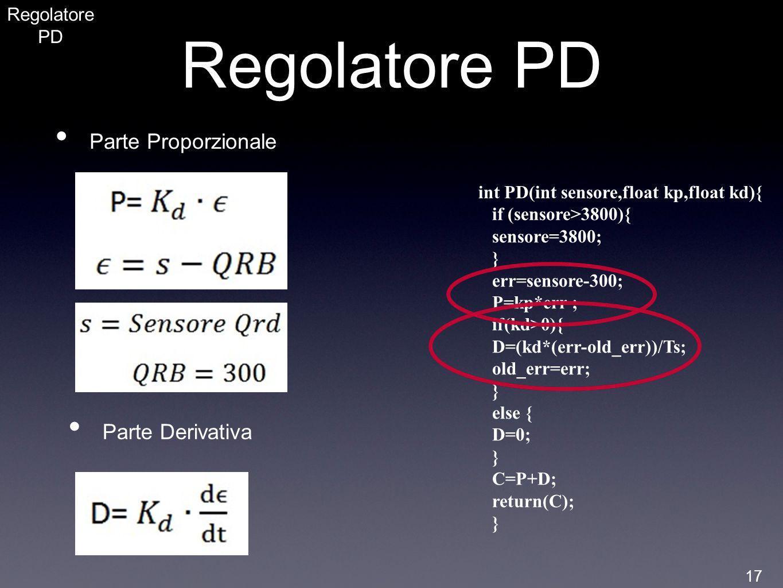 Regolatore PD Parte Proporzionale Parte Derivativa Regolatore PD