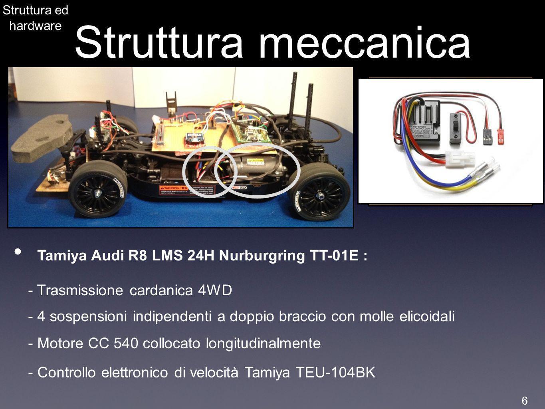 Struttura meccanica Tamiya Audi R8 LMS 24H Nurburgring TT-01E :