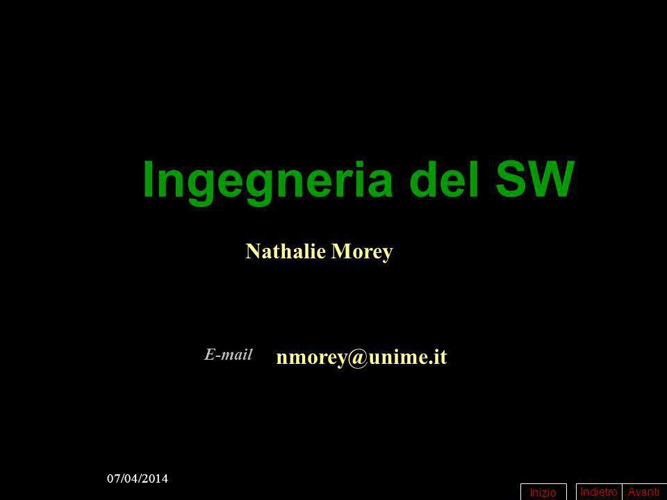 Ingegneria del SW Nathalie Morey E-mail nmorey@unime.it 29/03/2017