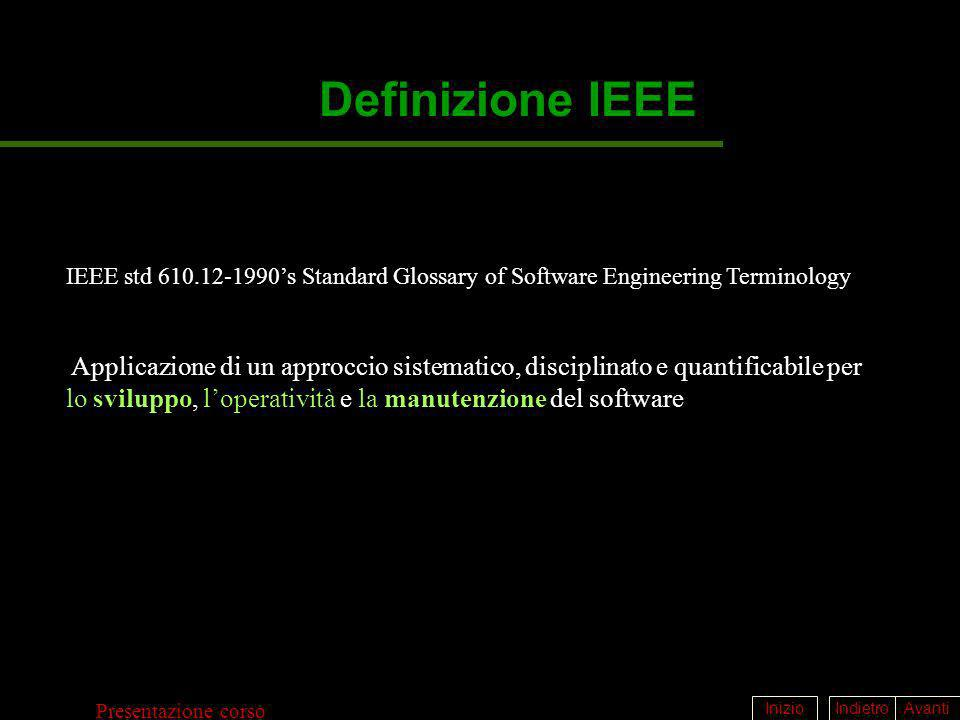 Definizione IEEE IEEE std 610.12-1990's Standard Glossary of Software Engineering Terminology.