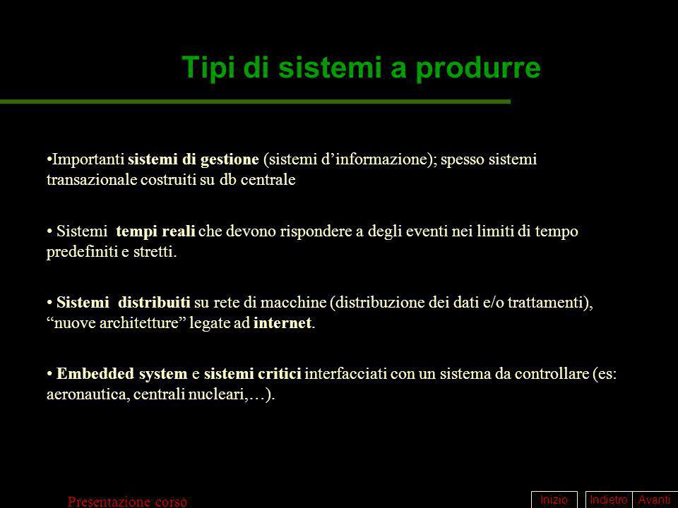 Tipi di sistemi a produrre