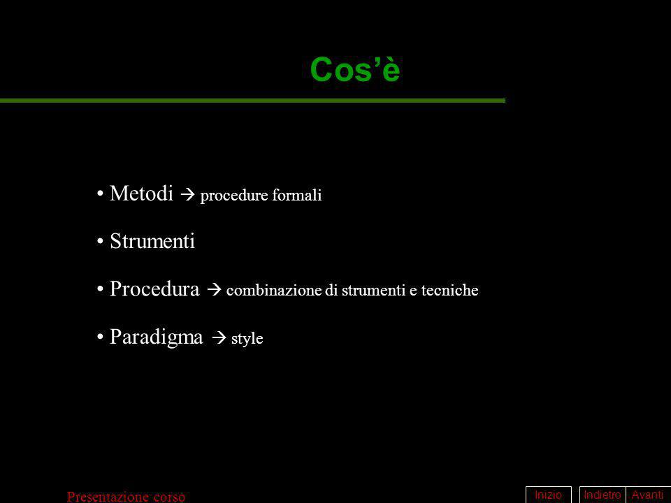 Cos'è Metodi  procedure formali Strumenti
