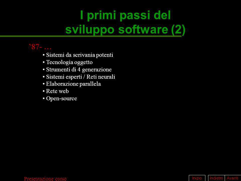 I primi passi del sviluppo software (2)