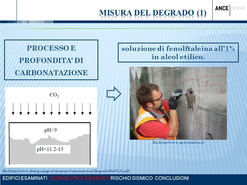 MISURA DEL DEGRADO (1) PROCESSO E PROFONDITA' DI CARBONATAZIONE