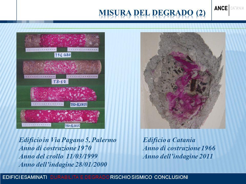 MISURA DEL DEGRADO (2) Edificio in Via Pagano 5, Palermo