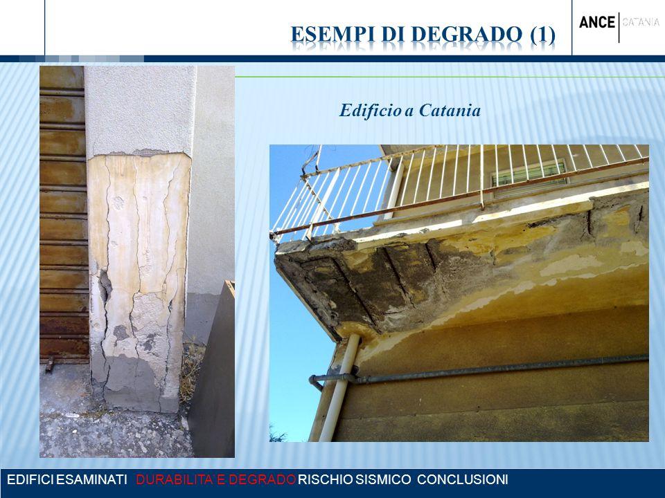 ESEMPI DI DEGRADO (1) Edificio a Catania