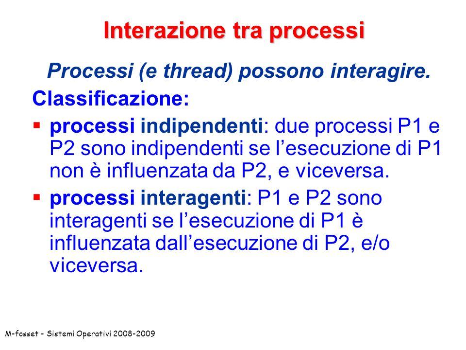 Interazione tra processi