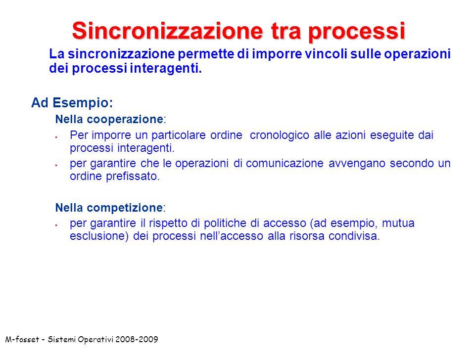 Sincronizzazione tra processi