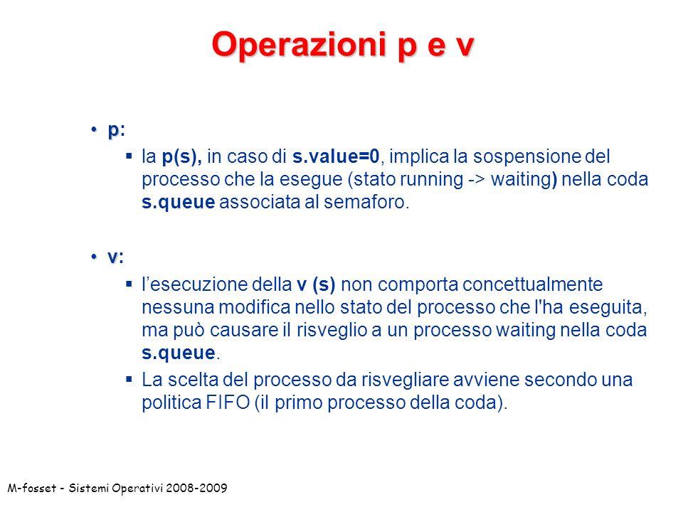 Operazioni p e v p:
