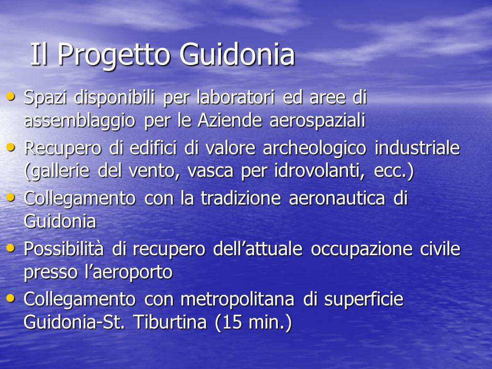 Il Progetto Guidonia Spazi disponibili per laboratori ed aree di assemblaggio per le Aziende aerospaziali.