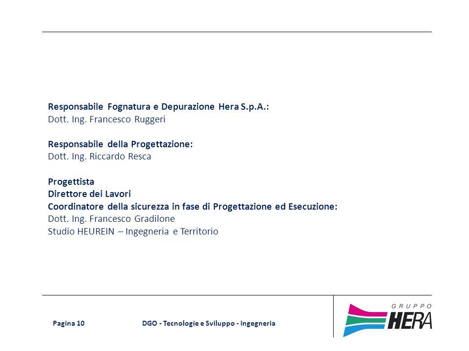 Responsabile Fognatura e Depurazione Hera S.p.A.: