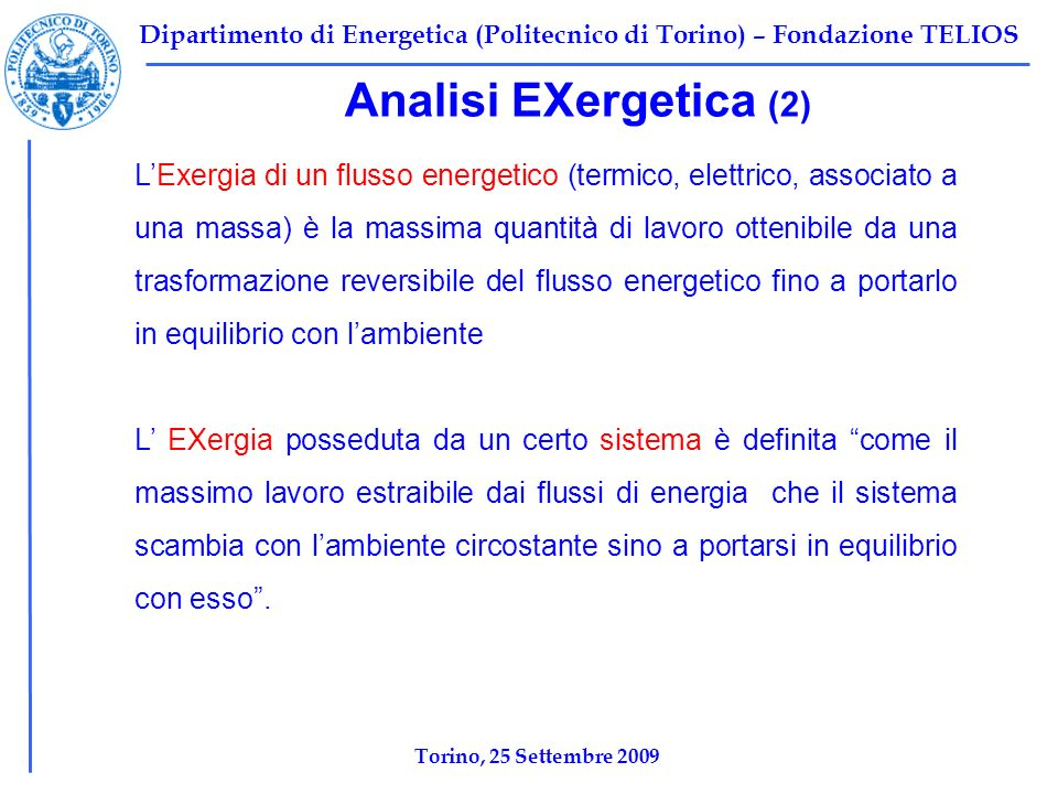 Analisi EXergetica (2)
