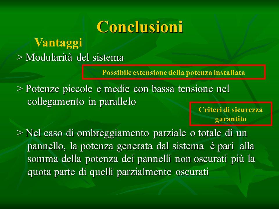Conclusioni Vantaggi > Modularità del sistema