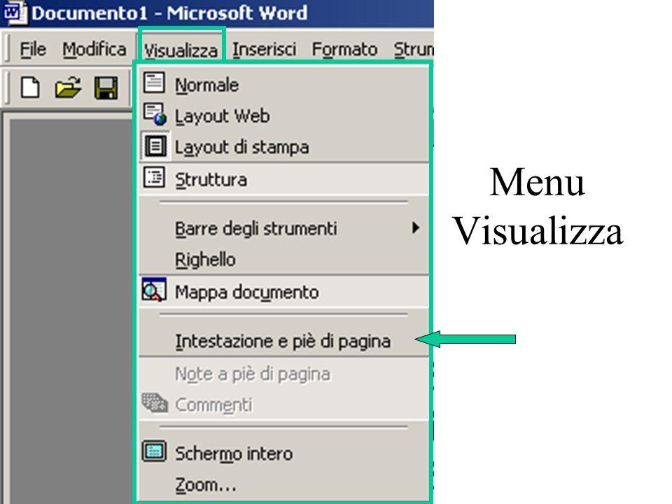 Menu Visualizza