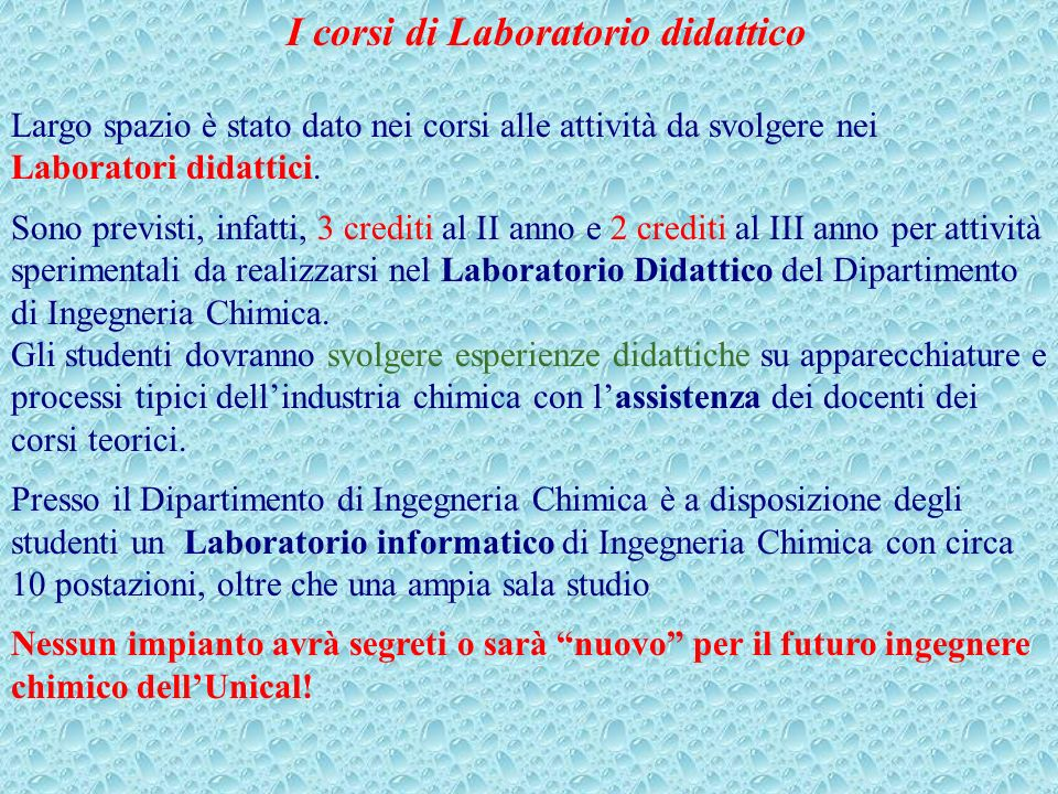 I corsi di Laboratorio didattico