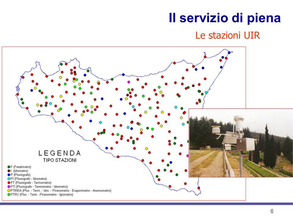Il servizio di piena Le stazioni UIR