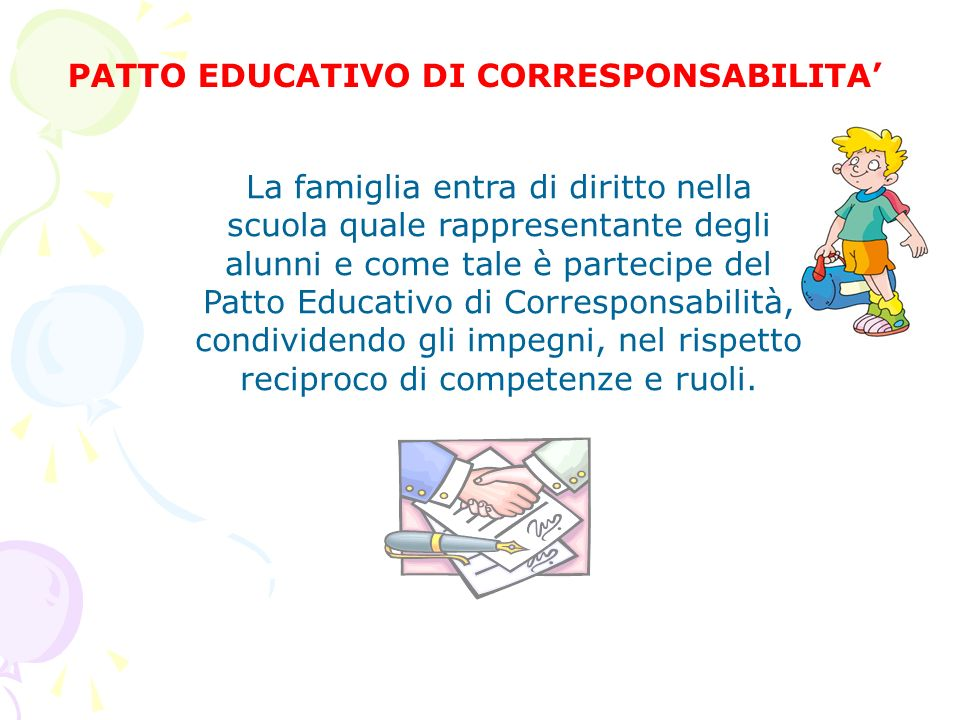 PATTO EDUCATIVO DI CORRESPONSABILITA'