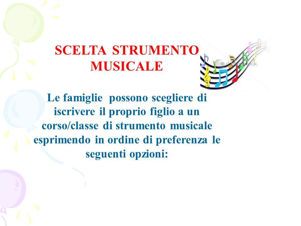 SCELTA STRUMENTO MUSICALE