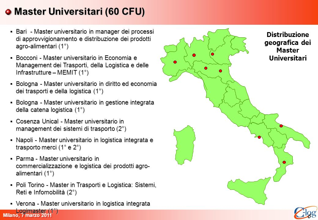 Master Universitari (60 CFU)