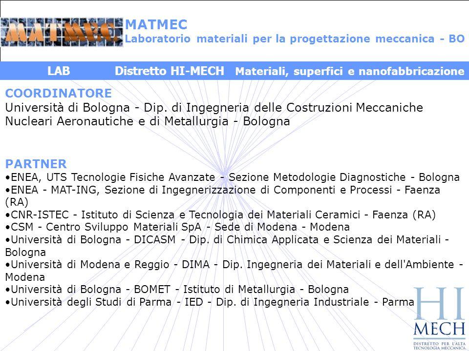 MATMEC LAB Distretto HI-MECH Materiali, superfici e nanofabbricazione