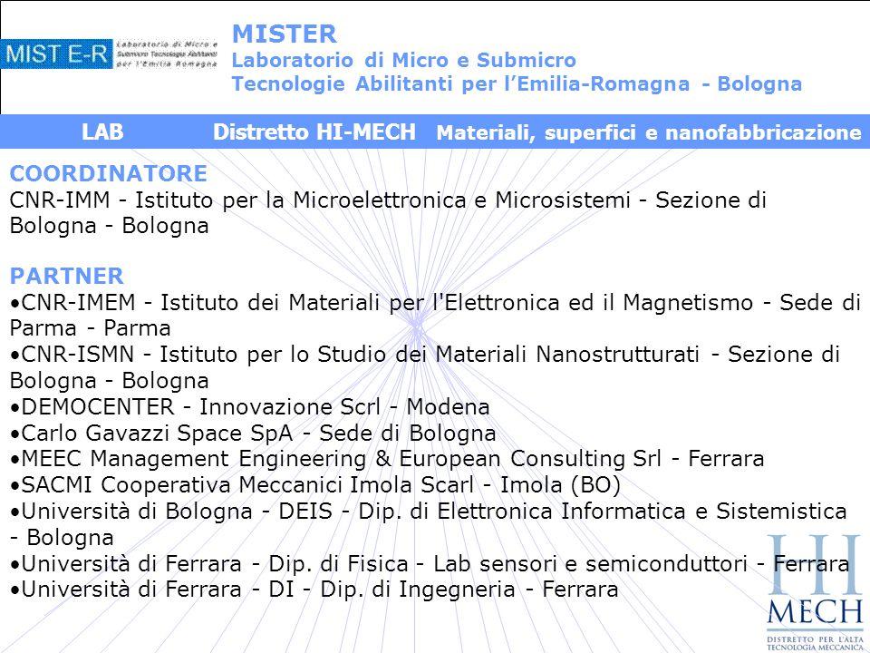 MISTER LAB Distretto HI-MECH Materiali, superfici e nanofabbricazione