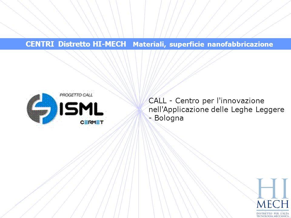 CENTRI Distretto HI-MECH Materiali, superficie nanofabbricazione
