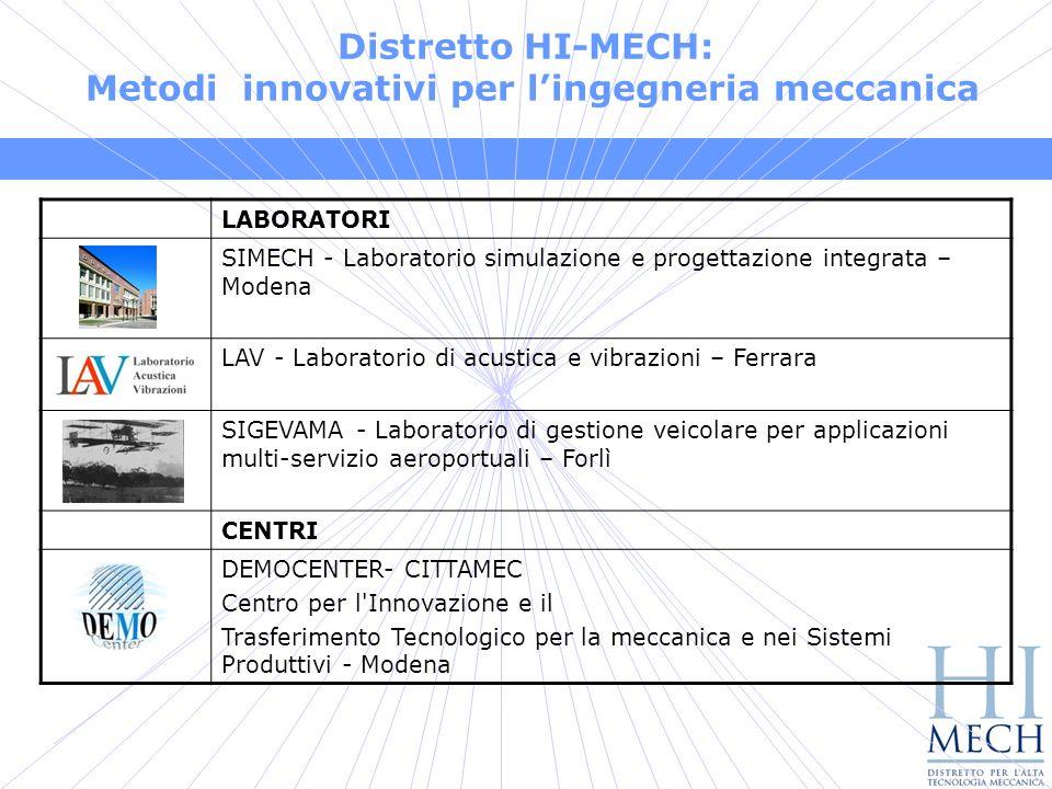 Distretto HI-MECH: Metodi innovativi per l'ingegneria meccanica