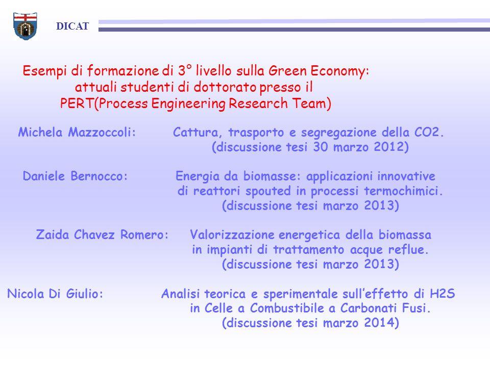 Esempi di formazione di 3° livello sulla Green Economy: