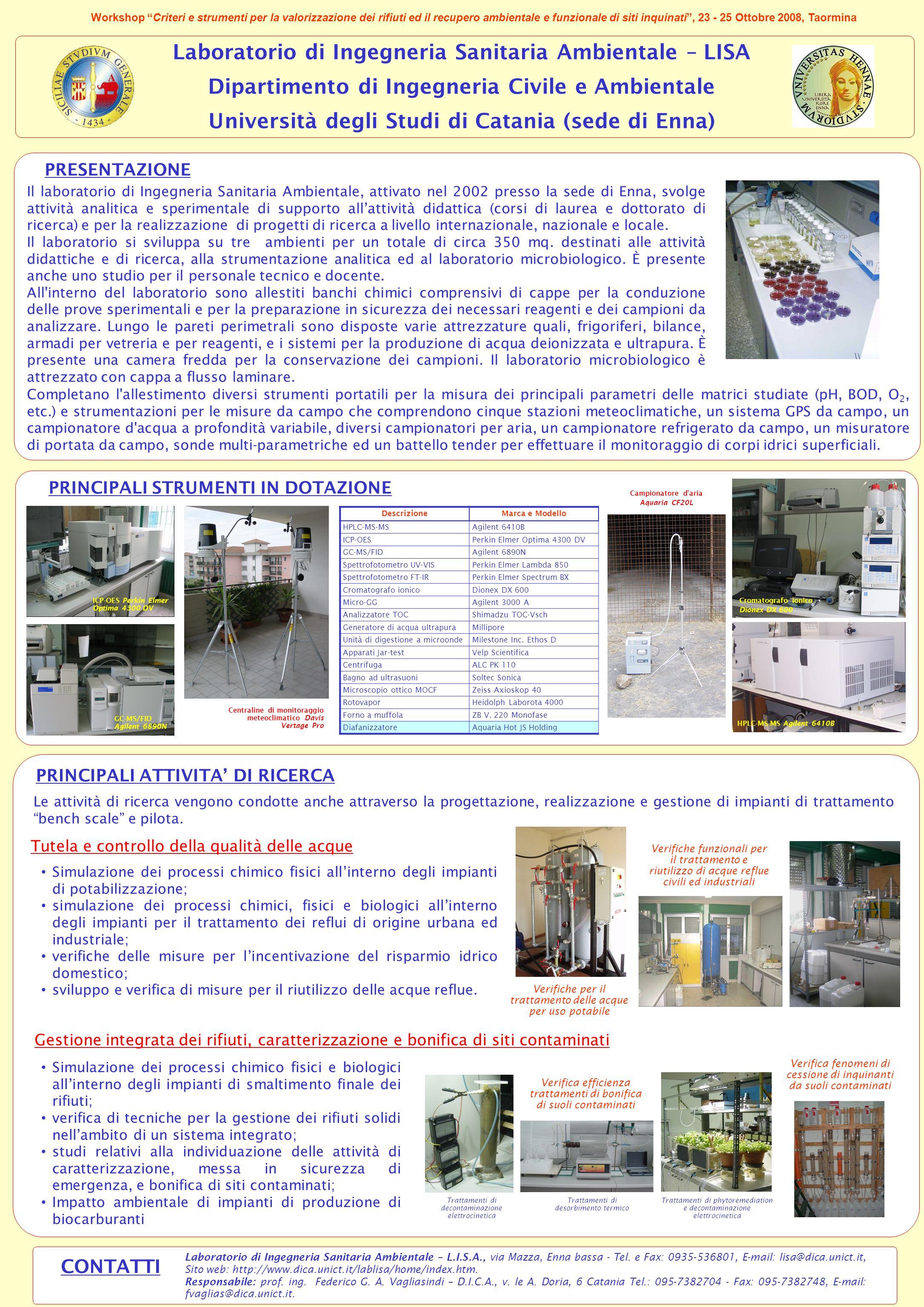 Laboratorio di Ingegneria Sanitaria Ambientale – LISA