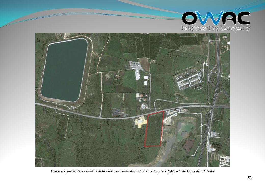 Discarica per RSU e bonifica di terreno contaminato in Località Augusta (SR) – C.da Ogliastro di Sotto
