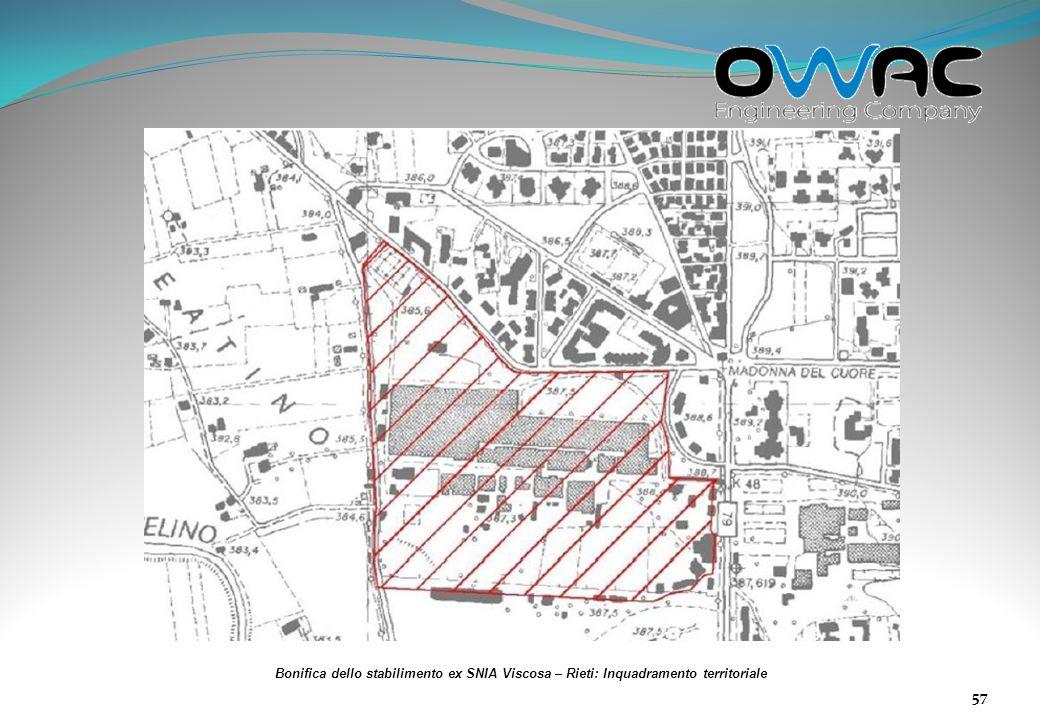 Bonifica dello stabilimento ex SNIA Viscosa – Rieti: Inquadramento territoriale