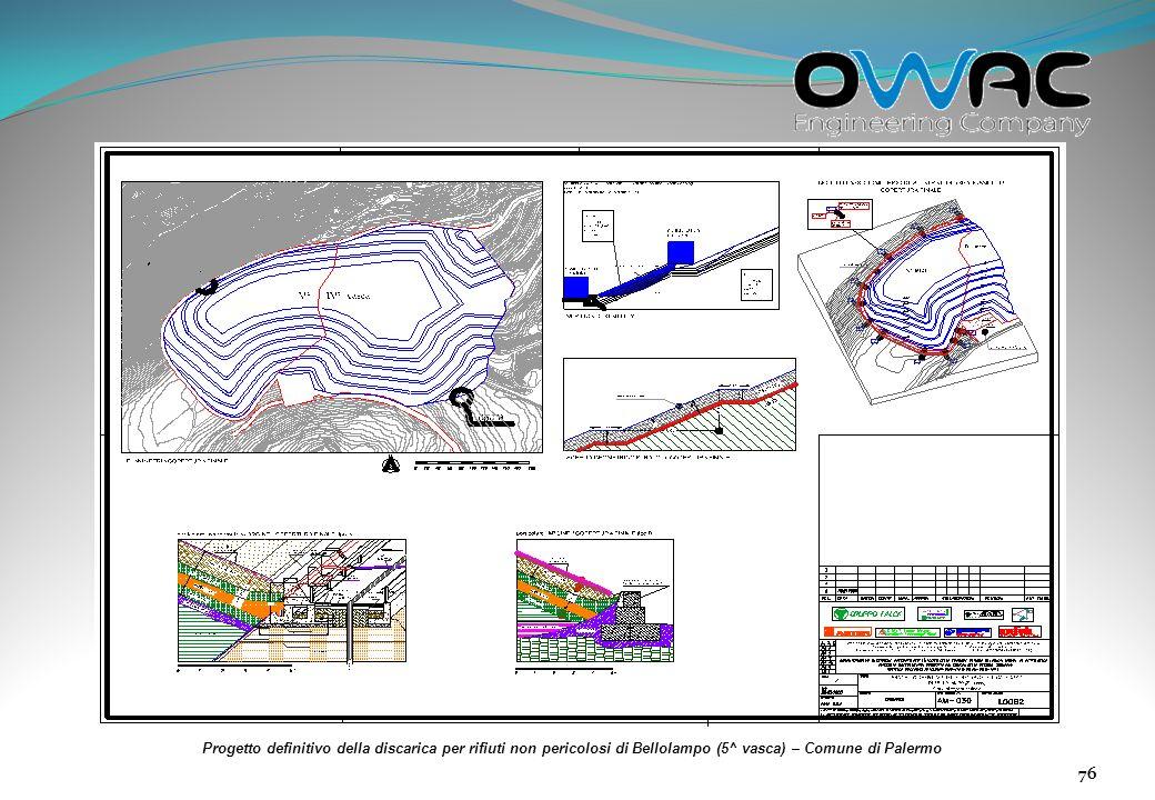 Progetto definitivo della discarica per rifiuti non pericolosi di Bellolampo (5^ vasca) – Comune di Palermo
