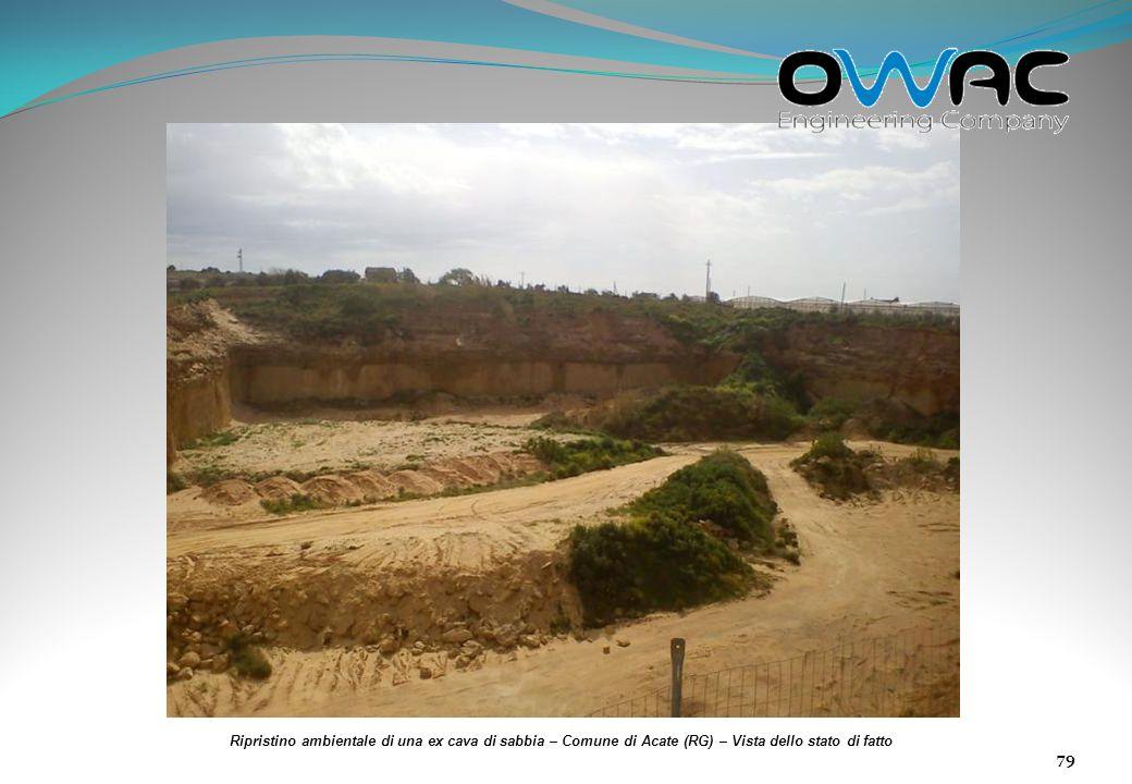 Ripristino ambientale di una ex cava di sabbia – Comune di Acate (RG) – Vista dello stato di fatto