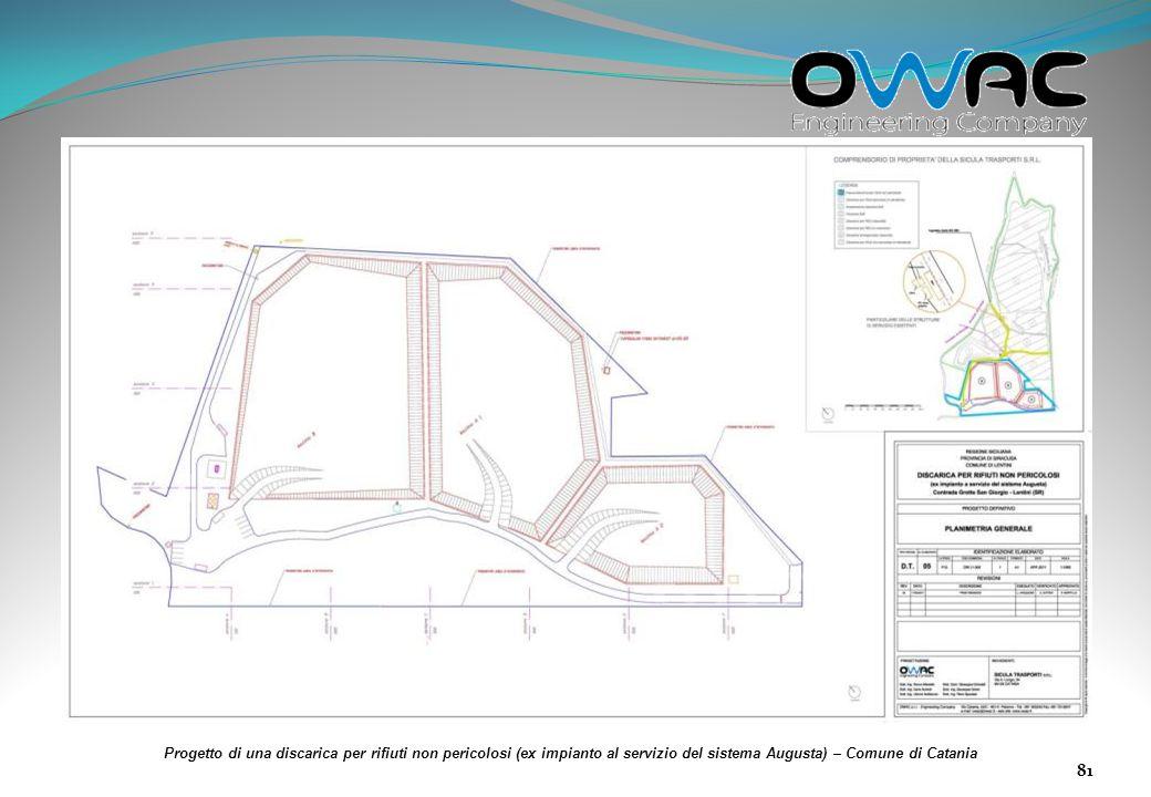 Progetto di una discarica per rifiuti non pericolosi (ex impianto al servizio del sistema Augusta) – Comune di Catania